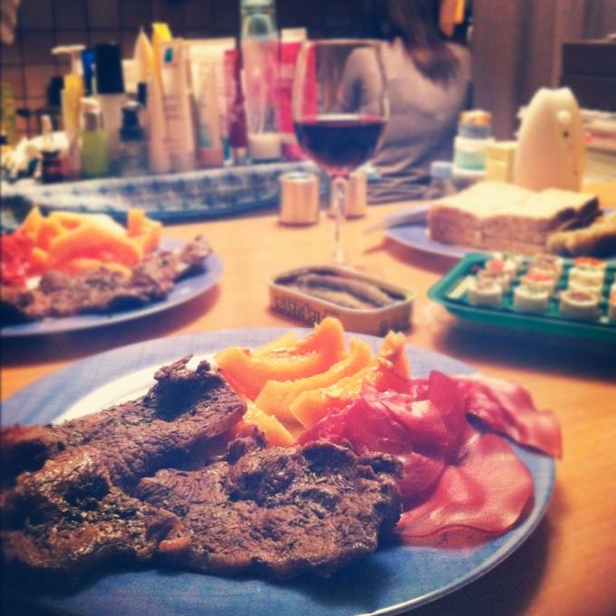 dinner prepared by Alice